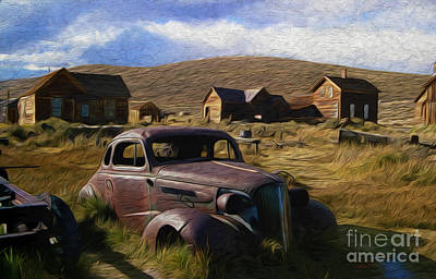 High Sierra Digital Art - A Town Called Bodie by Anthony Forster