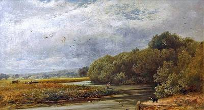 A Tranquil River Print by William Gosling