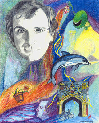 Dirk Drawing - A Tribute To Douglas Adams by Deanna Yildiz
