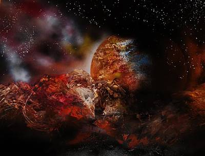 Deep Space Art Painting - A Universe Of Light And Darkness by Mario Carta