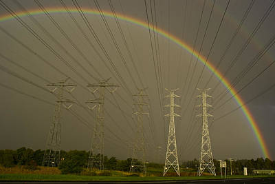 Natural Forces Photograph - A Vast Array Of Electrical Towers by Jason Edwards