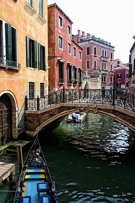 Iron Photograph - A Venetian Canal by Michelle Sheppard
