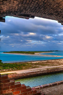 Vertical Photograph - A View From Fort Jefferson by Andres Leon