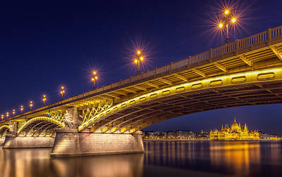 Night Lamp Photograph - A View Of Budapest by Thomas D M?rkeberg