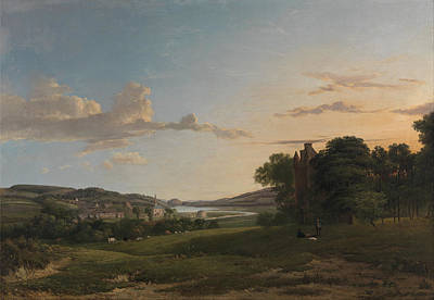 Patrick Nasmyth Painting - A View Of Cessford And The Village Of Caverton. Roxboroughshire In The Distance by Patrick Nasmyth