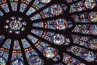 A View Of The Famed Rose Window Print by Carsten Peter