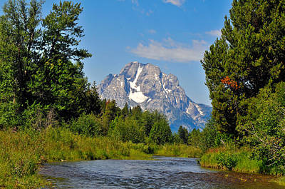 A View Of The Grand Teton National Park Print by Ginger Wakem