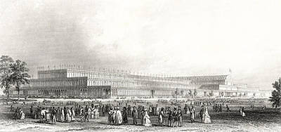 Cast Iron Drawing - A View Of The Great Exhibition Of The by Vintage Design Pics