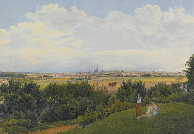 A View Of Vienna From The Prater With Figures In The Foreground Print by Rudolph von Alt