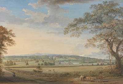 A View Of Vinters At Boxley, Kent, With Mr. Whatman's Turkey Paper Mills Print by Paul Sandby