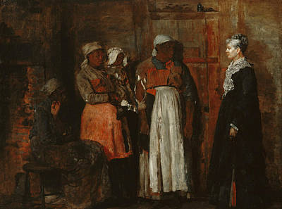 A Visit From The Old Mistress Print by Winslow Homer