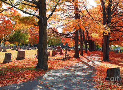 Ma. Mass Painting - A Visit To Calvary On A Gorgeous Fall Day by Rita Brown