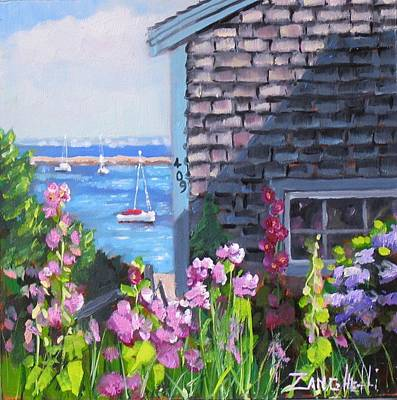 Town Painting - A Visit To P Town Jr by Laura Lee Zanghetti