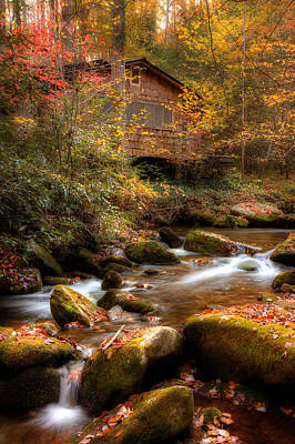 River Scenes Photograph - A Walk Along The Stream by Mike Eingle