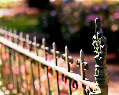 Gate Photograph - A Walk In The Garden by Rebecca Cozart