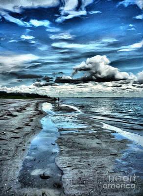 A Walk On The Beach Print by Jeff Breiman