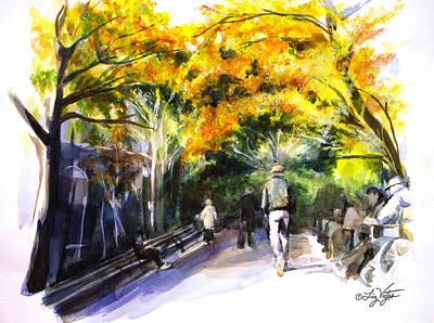 A Walk Through The Park Print by Liz Viztes
