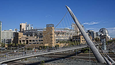 San Diego Padres Stadium Photograph - A Walk To The Park by Stephen Stookey