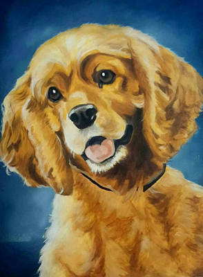 Cocker Spaniel Painting - A Warm Heart by Nicole Oquendo