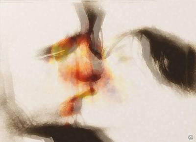 Couple Digital Art - A Warm Moment by Gun Legler