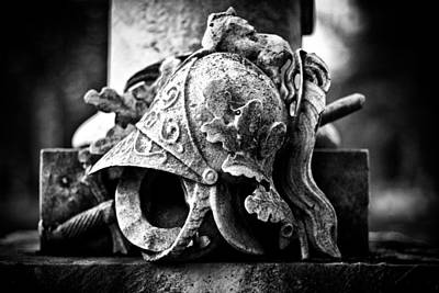 Marble Tomb-stones Photograph - A Warrior Remembered by Scott  Wyatt