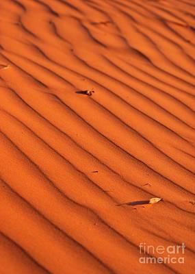 Sunset Abstract Photograph - A Wave-like Pattern On Sand by Hideaki Sakurai