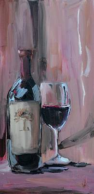 Wine Painting - A Weekend Well Spent by Donna Tuten