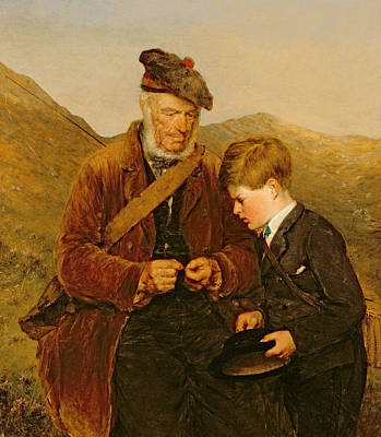 A Willing Pupil Print by Erskine Nicol