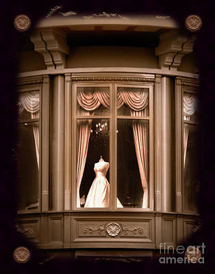 Bride Photograph - A Window Lost In Time by Laura Iverson