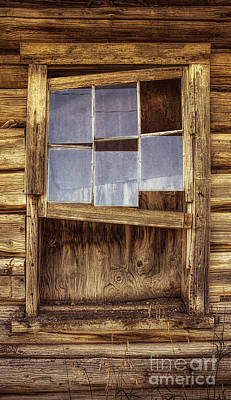 A Window Without A View Print by Priscilla Burgers