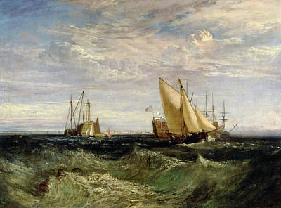 Water Vessels Painting - A Windy Day by Joseph Mallord William Turner