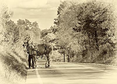 Mennonite Photograph - A Windy Day Sepia by Steve Harrington