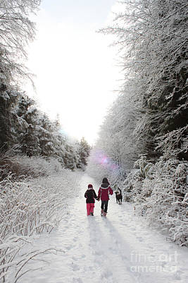 Snow Photograph - A Winter's Hike In Alaska by Carolyn Brown