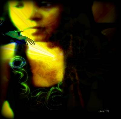 Yesayah Mixed Media - A Woman's Soul by Fania Simon