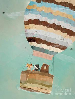 Fox Digital Art - A Wondrous Little Adventure by Bri B