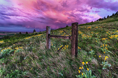 Fence Posts Photograph - A World Of Never Ending Happiness by Mark Kiver