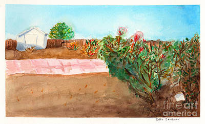 Simplicity Drawing - A Yard by Debbie Davidsohn