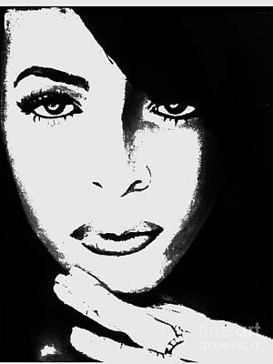Aaliyah Painting - Aaliyah by Cheryl Riley