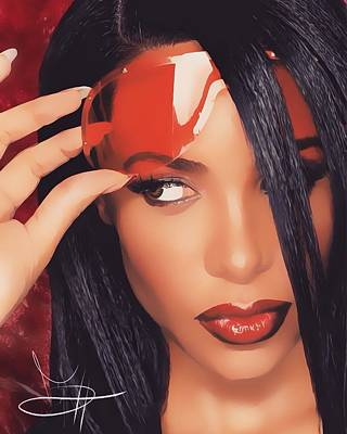Aaliyah Digital Art - Aaliyah  by DeVonte Graham