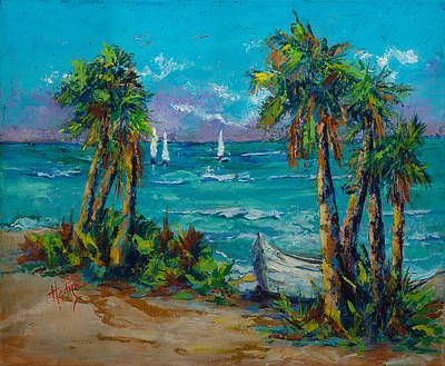 Boat On Beach Painting - Abandoned Boat by Mary DuCharme