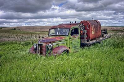 Abandoned Chevy Truck - Rusty Vehicles Print by Nikolyn McDonald