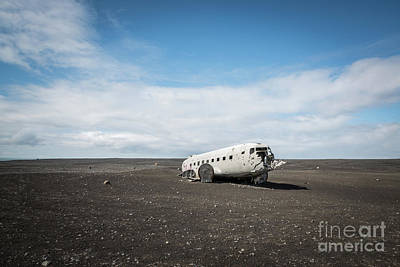 Abandoned Air Plane Photograph - Abandoned Dc 3 Plane In Iceland  by Michael Ver Sprill