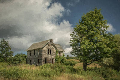 Abandoned Farmhouse Print by Guy Whiteley