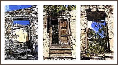 Sicily Digital Art - Abandoned Neighbors - Sicily by Linda  Parker