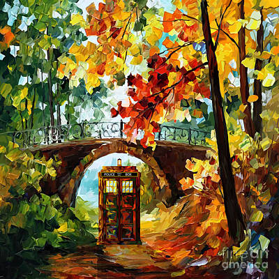 Fandom Painting - Abandoned Phone Booth Under The Bridge by Three Second
