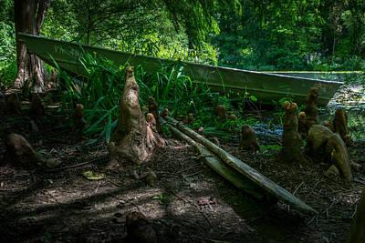 Meadowlark Digital Art - Abandoned Row Boat by Rafael Suanes