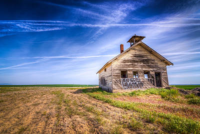 School Houses Photograph - Abandoned School House by Spencer McDonald