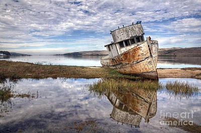 Abandoned Digital Art - Abandoned Ship by Eddie Yerkish