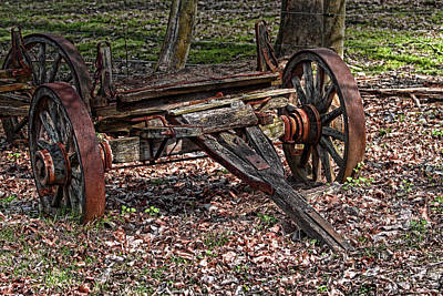 Abandoned Wagon Print by Tom Mc Nemar