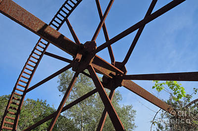 Abandoned Water Extraction Wheel Mechanism 2 Print by Angelo DeVal